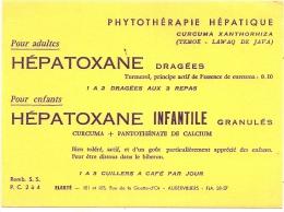 Buvard  Pharmacie - Laboratoires ELERTE Aubervilliers - PHYTOTHERAPIE HEPATIQUE - Excellent état - Produits Pharmaceutiques