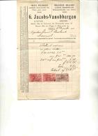 LEUVEN-LOVENJOUL-MEKANISCHE ROLLUIKEN-ROLZONNESCHUTSELS VOOR SERREN-G.JACOBS-VANOBBERGEN-PENSSTRAAT-FACTUUR-1926 - Belgium