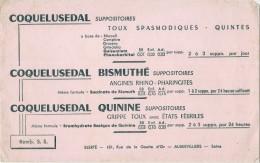 Buvard  Pharmacie - Laboratoires Elerte  AUBERVILLIERS - COQUELUSEDAL -gamme - TB - Produits Pharmaceutiques