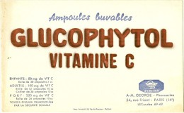 Buvard  Pharmacie - Laboratoires SYPHAR - Paris Lecourbe-  - GLUCOPHYTOL Vitamine C   TB - Droguerías