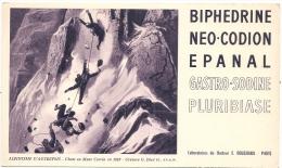 Buvard  Pharmacie -  Laboratoire Bouchara ALPINISME Autrefois Mont Blanc  - Biphédrine Néo Codion Epanal Gastro Sodine - Chemist's
