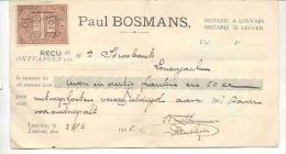 LEUVEN-LOVENJOUL-PAUL BOSMANS-NOTARIS-RECU VAN METINGSKOSTEN 1925 AAN MR. STROOBANTS - Belgique