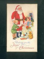 Wishing You The Joys Of Christmas ( Père Noel Jouets Enfants Sapin De Noel Carte U.S.A Séries 1732) - Andere