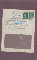 - 1915 - Cachet Postal De PARIS Chemin Vert - Maison GROSDEMOUGE - Fabrique D'Outillage Pour Chemin De Fer - Parmentier - Marcophilie (Lettres)
