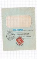 - 1914 - Cachet Postal De Train BRUYERES à LUNEVILLE - RAMBERVILLERS ( Vosges ) - Commerce PARMENTIER - Postmark Collection (Covers)