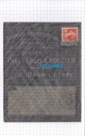 - 1912 - Cachet Postal - RAON L' ETAPE ( Vosges ) - Quincaillerie Paul & Louis CROUZIER - Marcophilie (Lettres)