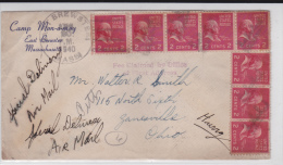 """USA -  1940 - ENVELOPPE """"SPECIAL DELIVERY"""" Avec """"TAXE PERCUE à ZANESVILLE (OHIO) - FEE CLAIMED"""" De EAST BREWSTER (MASS.) - Marcophilie"""