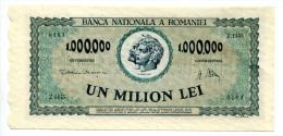 D Roumanie Romania Rumänien 1.000.000 Lei 1947 UNC # 5 - Romania