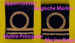 2scan GRADEN OPPERMEESTER MARINE MAÎTRE PRINCIPALE ZEEMACHT FORCE NAVALE MILITAIRE Onderofficier Sous-officier NAVY 4018 - Uniforms