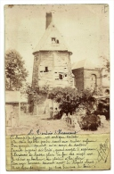 Photo-carte Bizarre : Le Tordoir D'Happencourt 1903 Avec Poëme Signé...(cf Verso Collage Curieux...) - France