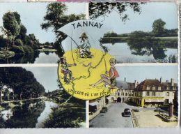 TANNAY -1964-- Multivues, 4 Vues ( Un Coin Où L´on Pêche),cpsm 10 X 15 éd  Nivernaises - Tannay