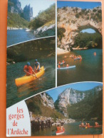 V9-07-ardeche--rocher De La Cathedrale-pont D'arc-canoes Sur L'ardeche-- - Non Classificati