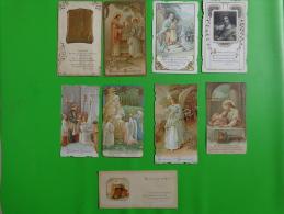 Lot Images Pieuses-sc 12-444-h-g- N°511bouasse 7407-morel 1094-bouasse 4045-bouasse Jeune 4071 - Religion & Esotericism