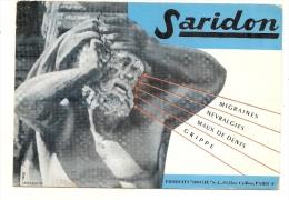 Buvard  Pharmacie - Laboratoires  ROCHE Paris - SARIDON - MIGRAINES  TTB - Produits Pharmaceutiques