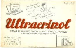 Buvard  Pharmacie - Laboratoires  Rotoff - ULTRACRINOL - Asthénie TB - Chemist's