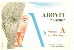 Buvard Pharmacie - Laboratoires ROCHE Paris Arovit  TTB - Produits Pharmaceutiques