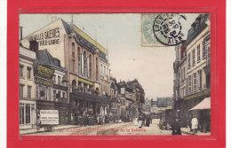 SAINT-QUENTIN (02) / COMMERCES / Bazar, Imprimerie, Pharmacie, Rue De La Sellerie / Grosse Animation - Saint Quentin