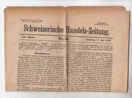 Schweizerische Handelszeitung 1869 / Journal Suisse Du Commerce 1869 - Revues & Journaux