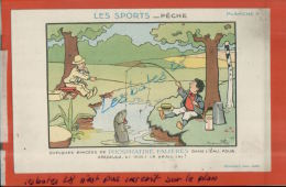 CPA  PUBLICITAIRE, PHOSPHATINE FALIERES, LES SPORTS, PECHE,  FANTAISIES, HUMOUR,  AVRIL 2013  1031 - Rabier, B.