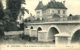 N°30534 -cpa Montargis -pont De La Chaussée Et La Caisse D'Epargne- - Banques