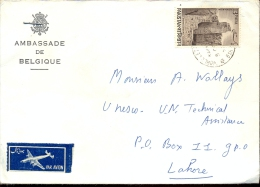 Omslag Enveloppe  Ambassade De Belgique Pakistan - Pakistan