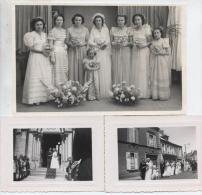 14   ISIGNY  SUR  MER   :  1  GRANDE  PHOTO  Et  7  PETITES  PHOTOS  D´ UN  MARIAGE  (  2  SCANS  ) - France
