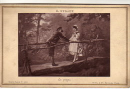 PHOTO R.RUDAUX LE PEAGE  COLLEE SUR SON CARTON D'ORIGINE 1879 - Fotos