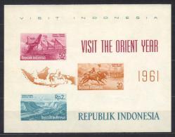 "D207 - INDONESIA 1961 ,  Foglietto ""visit Orient Year"" - Indonesia"