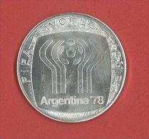 MEDAGLIA - ARGENTINA 1978 - CAMPIONATO MONDIALE DI FOOTBALL - CAMPEONATO MUNDIAL DEL FUTBOL - NICKEL  - Gr. 18,44 - Italia