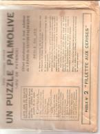 """PUZZLE PALMOLIVE - D´après Un Tableau De John Russel """"la Fillette Aux Cerises"""" - Publicités"""