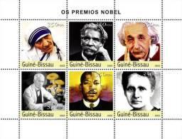 Gb3215 Guinea Bissau 2003 Prix Nobel S/s Mushroom M.Teresa Schweitzer Einstein Fleming M.L.King M.Ccuire - Albert Schweitzer