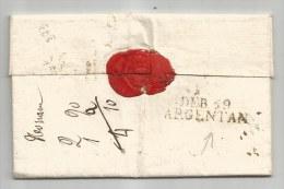 - Lettre - ORNE - DEB.59 / ARGENTAN - En Noir   35x19 Mm - 1820 - 1801-1848: Precursori XIX