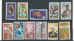 Gabon: 1 Lot PA : 18-23-38-48-45-46-49-50-65-69 ** - Gabon (1960-...)