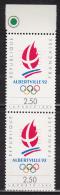 N° 2632 Alberville 92 Jeux Olympiques D´Hiver 1992 à Alberveille: Logo Des Jeux:Une Paire De 2  Timbres - Francia