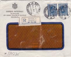 Belgrade Beograd Recommandé  - Lettre Cover Brief - Banque Du Royaume Serbes Croates Slovènes - Serbia