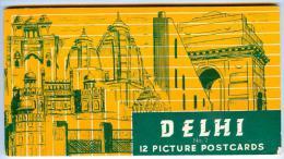 Souvenir Folder, 12 Picture Postcards (No. 2), Delhi, India, 1910-1920s - India