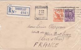 Melbourne Victoria 1949 - Markets Queensland  - Lettre Cover Brief - Registered Recommandé - Briefe U. Dokumente
