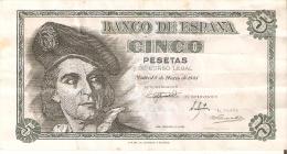 BILLETE DE ESPAÑA DE 5 PTAS DEL 1948 SERIE K CALIDAD BC+ (BANKNOTE) - [ 3] 1936-1975 : Régence De Franco