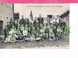 19 : TULLE : 1911 Colonie Scolaire Catholique , Au Drapeau , Enfants , Tambour ,TOP Corrèze - Tulle