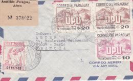 Asuncion Paraguay 1975 -  Lettre Cover Brief - Registered Recommandé + Adicional Pro Cartero UPU - Paraguay