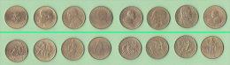 Vaticano Lotto 8 Monete Da 200 Lire Anni Diversi Giovanni Paolo II E Paolo VI - Vatican