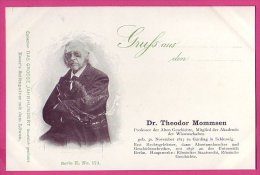 PC5954 UB Postcard: DGJ: Historian Dr. Theodor Mommsen - Famous People