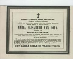 Van Hoey Maria (wwe Van Henricus Peeters), Egt. Van Blondeau Joannes, Antwerpen 22 Jan. 1845 - Obituary Notices