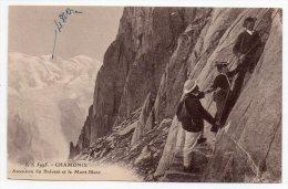 Cpa 74 - Chamonix - Ascension Du Brévent Et Le Mont-Blanc - Chamonix-Mont-Blanc