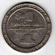 Slot Machine Gaming Token : McCarran Airport Slots Casino Las Vegas $1 1988 - Casino