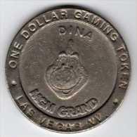 Slot Machine Gaming Token : Casino MGM Grand Las Vegas $1 Dina 1993 - Casino