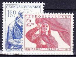 ** Tchécoslovaquie 1953 Mi 790-1 (Yv 696-7), (MNH) - Nuovi