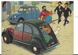 Bandes  Déssinées :  TINTIN  Et  2  Chevaux  Citroën - Stripverhalen