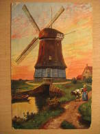 Amsterdam 1908 To Hannover Germany Mill Windmill Mills Windmills Water Post Card Netherlands Holland - Moulins à Vent