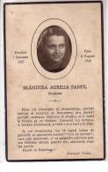 Italie - Image Religieuse Photo De BRANDUSA AURELIA PANFIN En Médaillon - Dorohot 1Januarie 1927 ... - Au Dos LA VIE - Images Religieuses